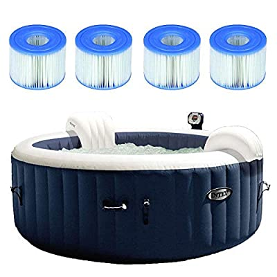 Intex Pure Spa Inflatable 4 Person Hot Tub w/Type S1 Filter Cartridges (4 Pack)