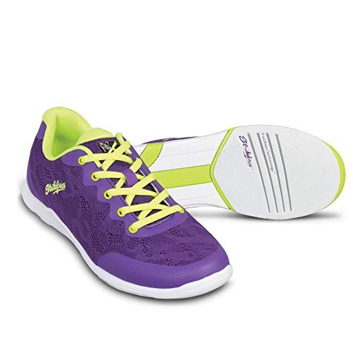 KR Strikeforce Women's Lace Bowling Shoes, Purple/Yellow, Size 7.5