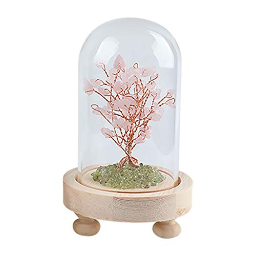 Natural Aquamarine Crystal Tree 5.11 Inch Desktop Decoration Stone Tree Sculpture Natural Colored Stone Tree Bonsai Decoration Rainbow Mixed Gem Tree Amethyst Good Luck Home Decoration (C)