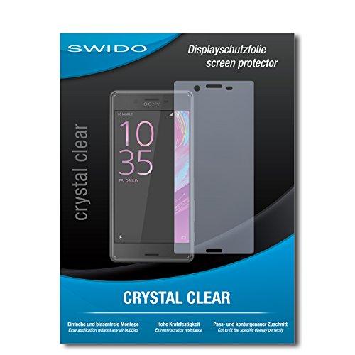 SWIDO Schutzfolie für Sony Xperia X Performance [2 Stück] Kristall-Klar, Hoher Festigkeitgrad, Schutz vor Öl, Staub & Kratzer/Glasfolie, Bildschirmschutz, Bildschirmschutzfolie, Panzerglas-Folie