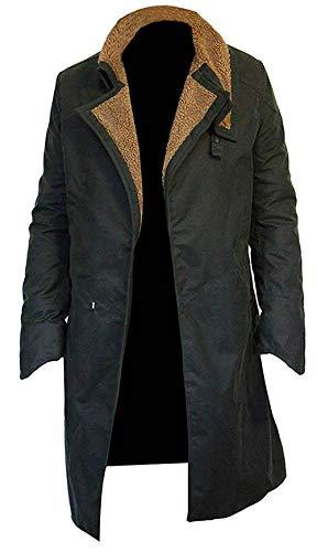 HS&M Ltd. Blade Runner 2049 Ryan Gosling - Abrigo largo para hombre (algodón), color negro Verde verde XL