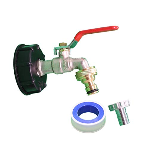 YO-HAPPY IBC Adaptador de contenedor de Tanque 1/2'3/4' Conector de Manguera de Grifo de Agua de Rosca de latón