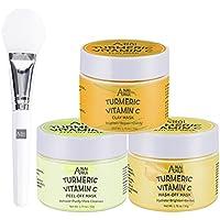 3-Pack Anairui Turmeric Vitamin C Facial Mask Set