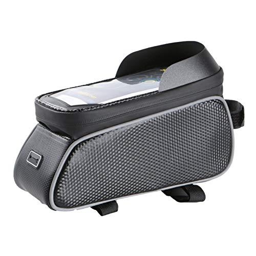 YINUOYI Bolsa Bicicleta, Bolsa Impermeable para Bicicleta, Bolsa Táctil de Tubo Superior Delantero con Orificio para Auriculares para Teléfono Inteligente por Debajo de 6,5 Pulgadas