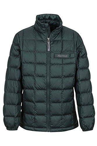 Marmot Boys' Ajax Down Puffer Jacket, Fill Power 600, Dark Spruce, X-Large
