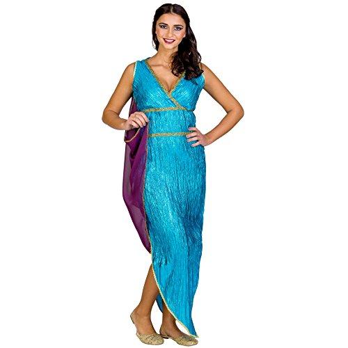 TecTake dressforfun Frauenkostüm griechische Schönheit Kassandra | langes Kleid mit sexy Ausschnitt | angenähte Schärpe (XL | Nr. 300413)