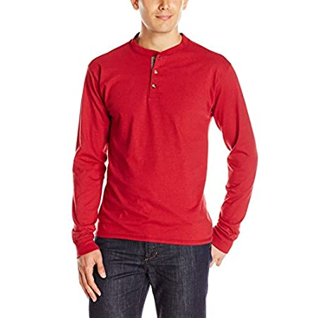 Fashion Shopping Hanes Men's Long Sleeve Beefy Henley Shirt