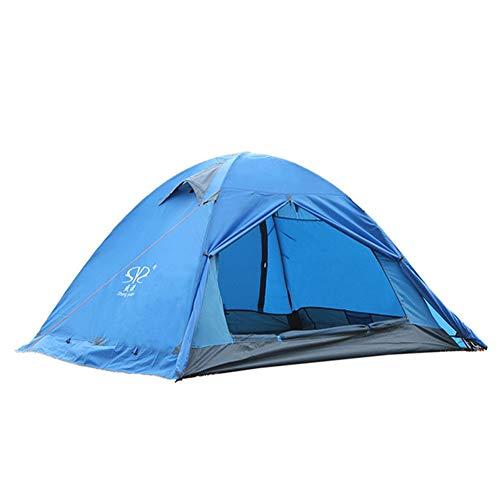 Uiterst lichte dubbele tent met regenstorm en sneeuwvanger, camping bergbeklimmen tent voor 2 presentaties.