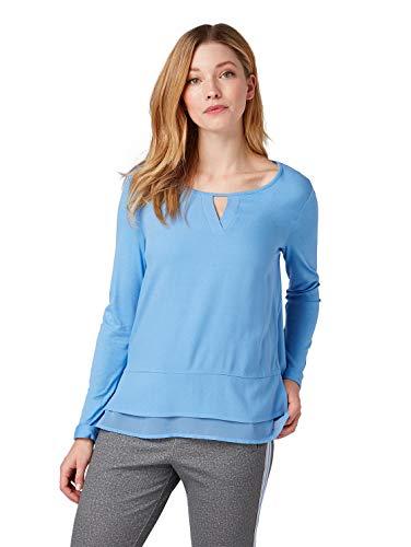 TOM TAILOR Damen 1007957 T-Shirt, Blau (Sea Blue 15497), Medium