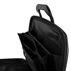 Black SumacLife Cady Semi Hard Case w/ Shoulder Strap for Acer Aspire M5-581T-6807 15.6-inch Laptops