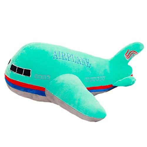 CULER Flugzeug-Modell-Kissen-Kissen gefüllte Puppe Plüsch-Spielzeug für Kinder Geburtstags-Geschenk Home Decoration Supplies Grün