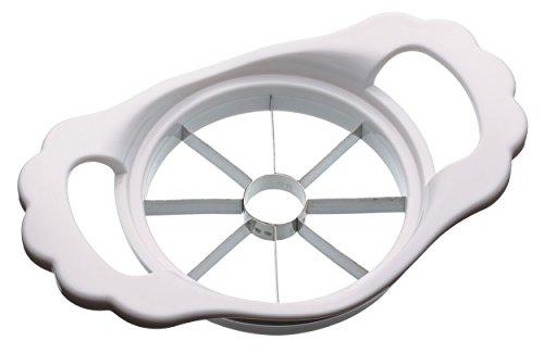 KitchenCraft Apfelentkerner und -schneider, Edelstahl/Kunststoff, Weiß, 11 cm