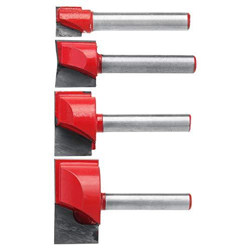 Rekkles 4PCS / Set 10/15/22/30 Millimetri Spianatrici Inferiore Pulizia Legno Convesso Fresa fresatura CNC Router Bit Lavorazione del Legno Strumento