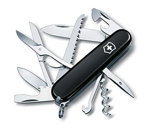 Victorinox Taschenmesser Huntsman (15 Funktionen, Schere, Holzsäge, Korkenzieher) schwarz