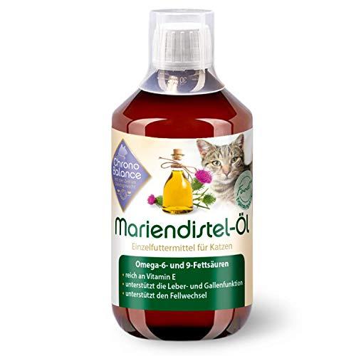 ChronoBalance® Mariendistel-Öl für Katzen - natürliche Nahrungsergänzung - unterstützt den Fellwechsel - reich an Vitamin E, Omega-6 und Omega-9 (500ml)