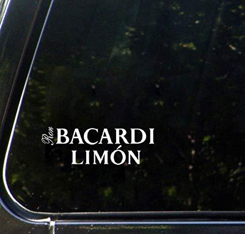 18cm breiter Bacardi Limon Text Auto Aufkleber Aufkleber Zitat Kunst Auto Aufkleber Fenster Dekor