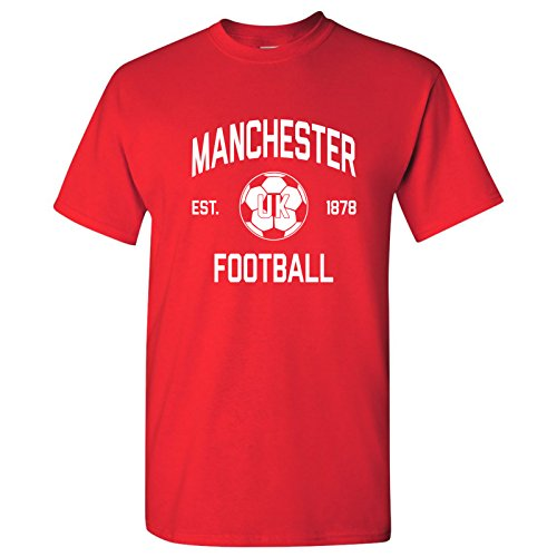 Manchester UK Home Kit World Classic Soccer Football Arch Cup T Shirt - Medium - Red
