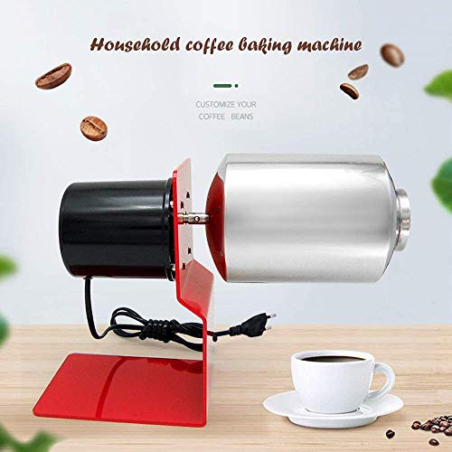 Coffee Beans Roaster Machine, Nonporous Large Caliber Including Gas Stove Automatic Coffee Baking Machine For Home Stainless Steel Thick Drum 120V