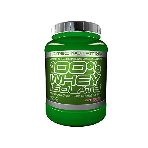 Scitec Nutrition 100% Whey Isolate con L-glutamina adicional, 700 g, Fresa