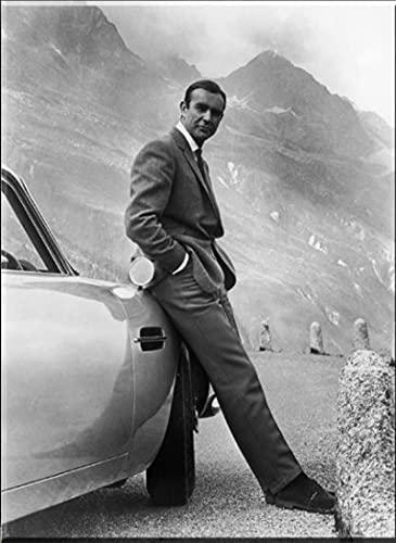 Stampa su tela 50x70cm Senza cornice SEAN CONNERY 007 JAMES BOND GOLDFINGER 1964, FILM Stampa artistica Poster