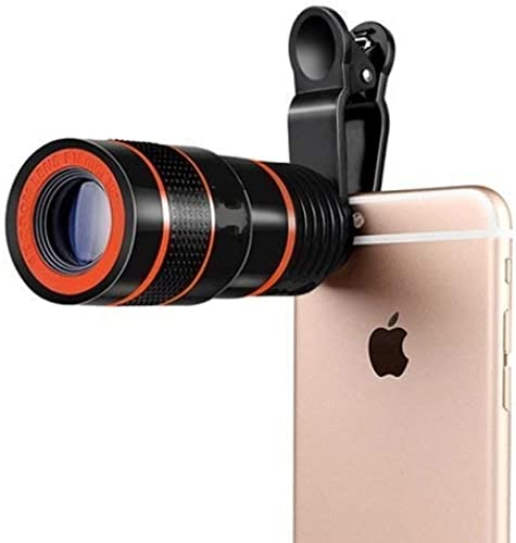 TEQNEQ 8X Zoom Telescope Lens Kit for Mobile Camer with DSLR Blur Background Wide Angle Effect Lens Compatible for All Smartphones