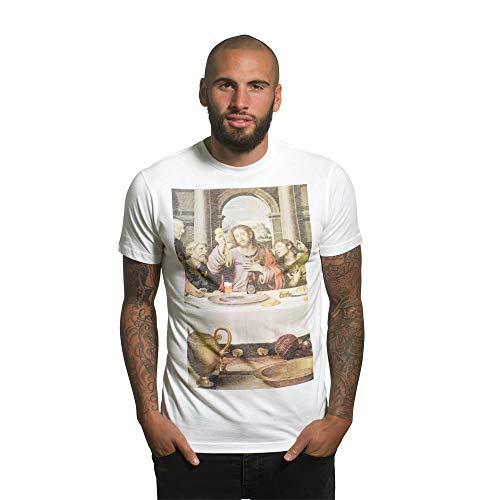 Copa Herren T-Shirt The Last Supper Rundhalsausschnitt L weiß