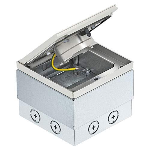 OBO Bettermann Vertr Bodensteckdose UDHOME2 VF leer mit Tubus Geräteeinsatz für Unterflurmontage 4012196591848