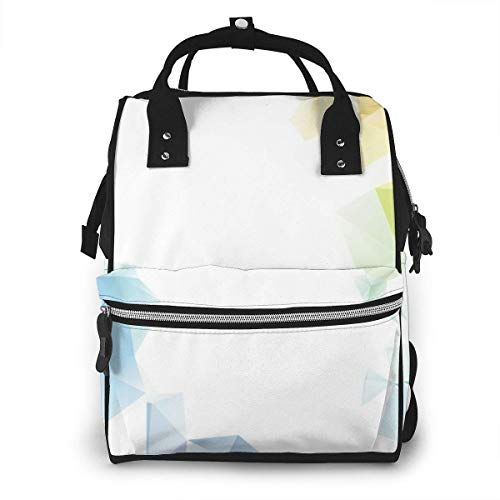 Shichangwei Mochila Escolar Diaper Bag Backpack Travel Bag Large Multifunction Waterproof Colorful Rainbow Polygon Stylish and Durable Nappy Bag for Baby Care School Backpack