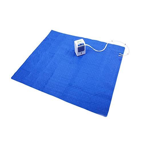 APENCHREN Klimaanlage Lüfter-Kühler-Pad, Kühlwasserkühler-Matratze, weiter schlafen, Sommer entlasten - für Zuhause und Büro,Blue-160x140cm