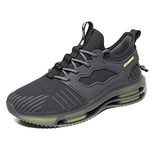 Magnifier Zapatillas de Deporte para Hombre Moda Zapatillas Deportivas Ligeras y Transpirables Tenis Zapatos Casuales para Caminar,Gris,41