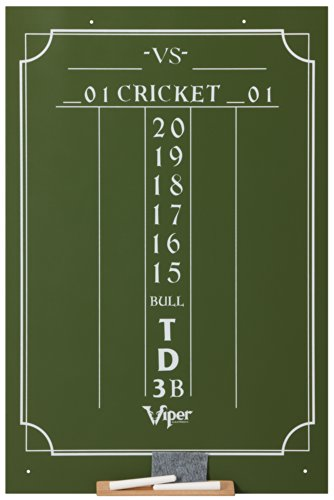 Viper Chalk Scoreboard: Cricket and 01 Dart Games, Green, 23.5' H x 15.5' W