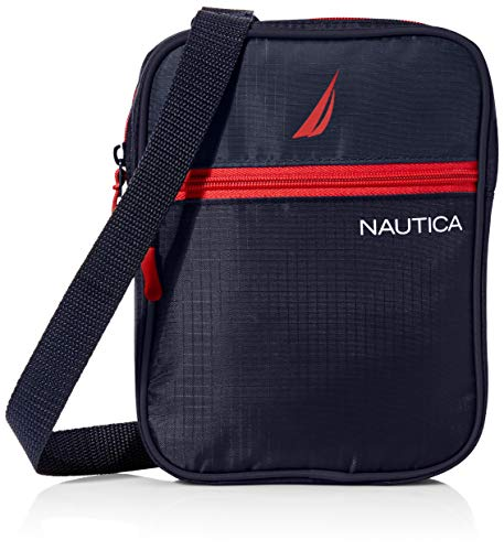 Nautica Small Crossbody Bag for Men, Navy, One Size