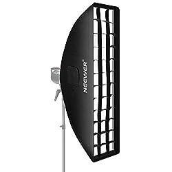 Neewer 35 x 160 cm Honeycomb Gitter Softbox mit Bowens Montage Speedring für Speedlite Studio Blitz Monolight Portrait und Produktfotografie