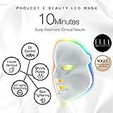 Project E Beauty, Masca fotónica de rejuvenecimiento de la piel, LED de 7 colores, tratamiento con fotones, terapia luminosa de blanqueamiento, antiedad, contra el acné, las manchas y las cicatrices