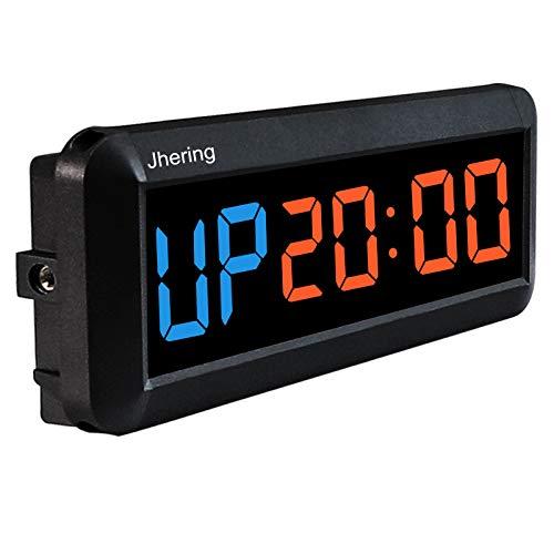 N/ A 1.5 Pulgadas 6 Digital Led Countdown Timer Cronómetro Reloj de Pared para Gimnasio Fitness Home (Azul/Rojo)