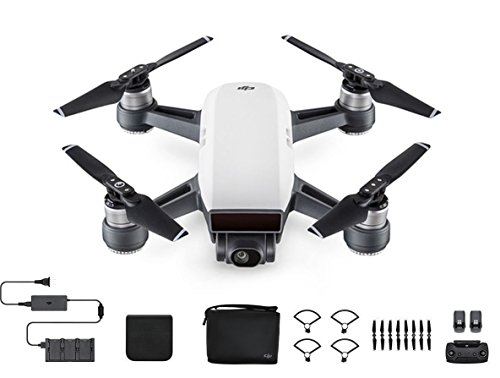one of the best drones with camera - the DJI SPARK and accessories