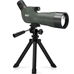 ★High Magnification And Large Diameter★ This spotting scope features a professional HD 24mm big eyepiece,adjustable from any magnification between 20 and 60 times.Ergonomic design 45 degree angled eyepiece.60mm maximum objective lens diameter gathers...