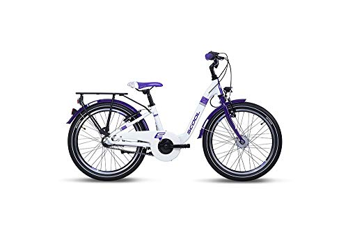 "S'Cool Chix Alloy 20R 3S Kinder City Bike 2020 (20"", White/Violet)"