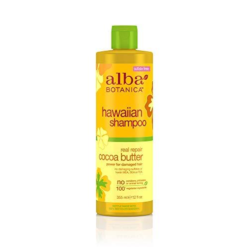 Alba Botanica Hawaiian Hair Care Cocoa Butter Real Repair Shampoo, 12 Fluid Ounce