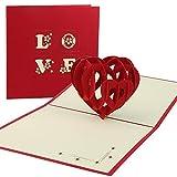 Vegena 3D Grußkarten Geburtstagskarte Hochzeitskarte Pop Up Karte Liebe, Valentinstag Muttertagskarte Hochzeitsgeschenk Glückwunschkarte...