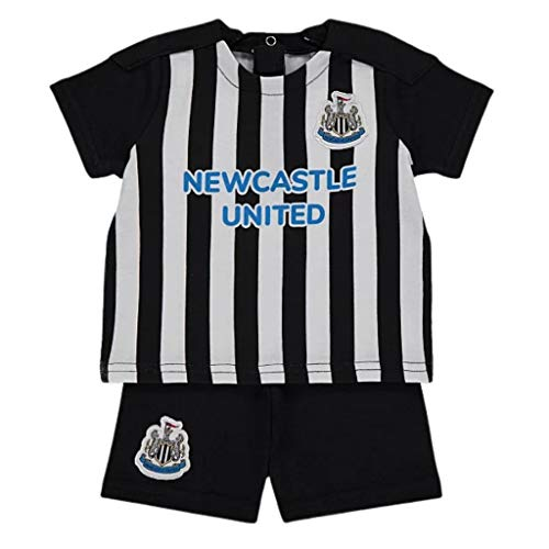 NUFC Newcastle United Baby Kit T-Shirt and Shorts Set | 2021 (12-18 Months) Black/White