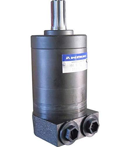 Hydraulikmotor M+S MMS_SH, Schluckvolumen wählbar von 8 cm3/U – 50 cm3/U, Anschlüsse: G 3/8'', Welle: Ø 16,5 mm verzahnt Größe 12 ccm