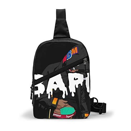 Casual Sling Bag Backpack, Rucksack, Anime Bapes Camo Shark Teeth Art Shoulder Crossbody Bag Chest Pack, Tool Backpak, Student Satchel Bookbags Travel Rucksack Daypack for Man/Women