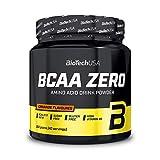 BioTechUSA BCAA Zero Bevanda in polvere di aminoacidi aromatizzata senza zucchero, con L-leucina, L-isoleucina e vitamina B6, 360 g, Arancia