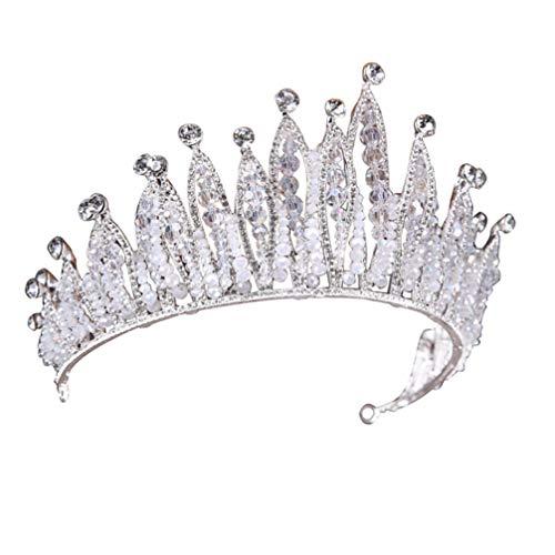Amosfun Hochzeit Krone Stirnband Diamant Haarband Kristall Diademe für Frauen Dame