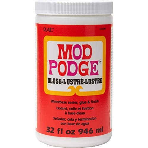 Mod Podge CS11203 Waterbase Sealer, Glue \& Decoupage Finish, 32 oz, Gloss