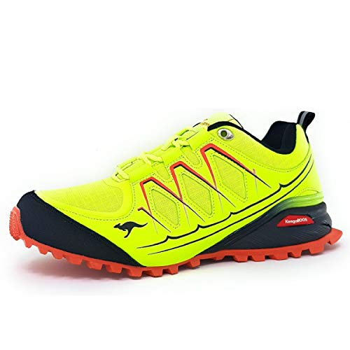 KangaROOS K-Krail S, Chaussure de Randonne Homme, Lime Jet Black 7007, 38 EU
