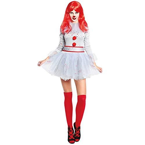 Disfraz Payasa Sádica Gris Mujer (Talla M) Halloween