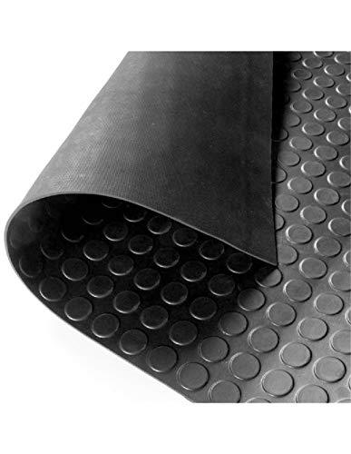 Jardin202 - Suelo Goma Circulo Negro - Rollo 3 mm 15 x 1 m