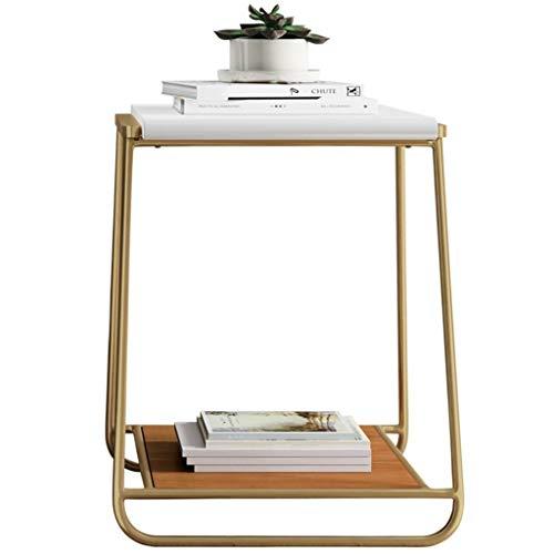 Tafel- Small Computer Table Mini Table Golden Iron Art Coffee Table Sofa Side Table Nachtkastje kleine salontafel, Afmetingen: 50 * 50 * 60 cm/Kleur: Goud
